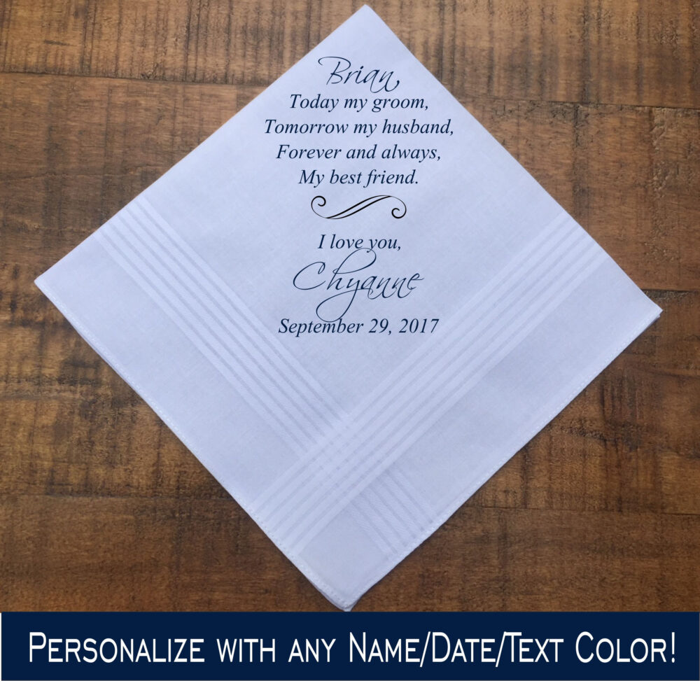 Groom Gift From Bride On Wedding Day • To For Idea Fiance Set Printed | H 050