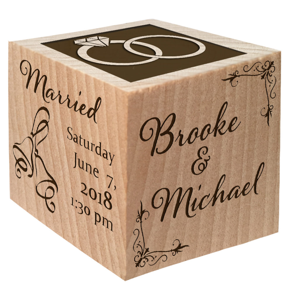 Bridal Shower Favors Wedding Gift Groom From Bride Engraved Decor Unique Announcement