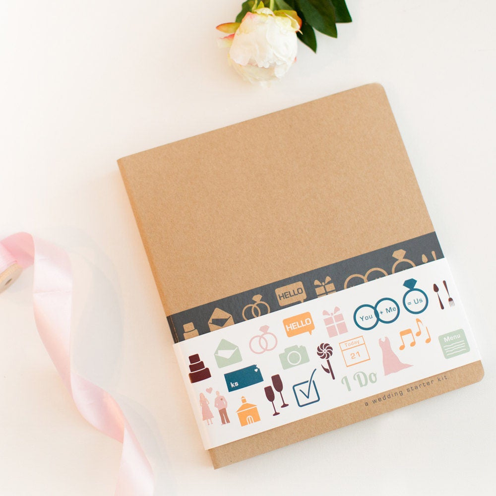 Wedding Planner, Three Rings & A Checklist, 3 Ring Binder Organizer, Fun Engagement Gift Idea For The Bride To Be, Planning Diy