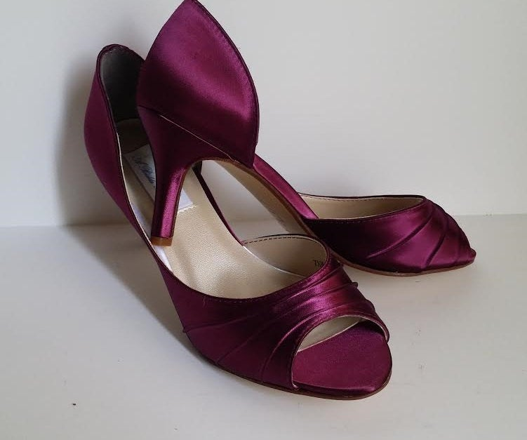 Burgundy Wedding Shoes Bridal Bridesmaid Pick From 100 Colors