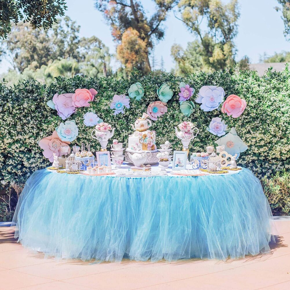 Tulle Table Skirt Tutu Skirts Wedding Tablecloth Birthday Baby Shower Party Skirting Decorations For Round Or Rectangle Ta