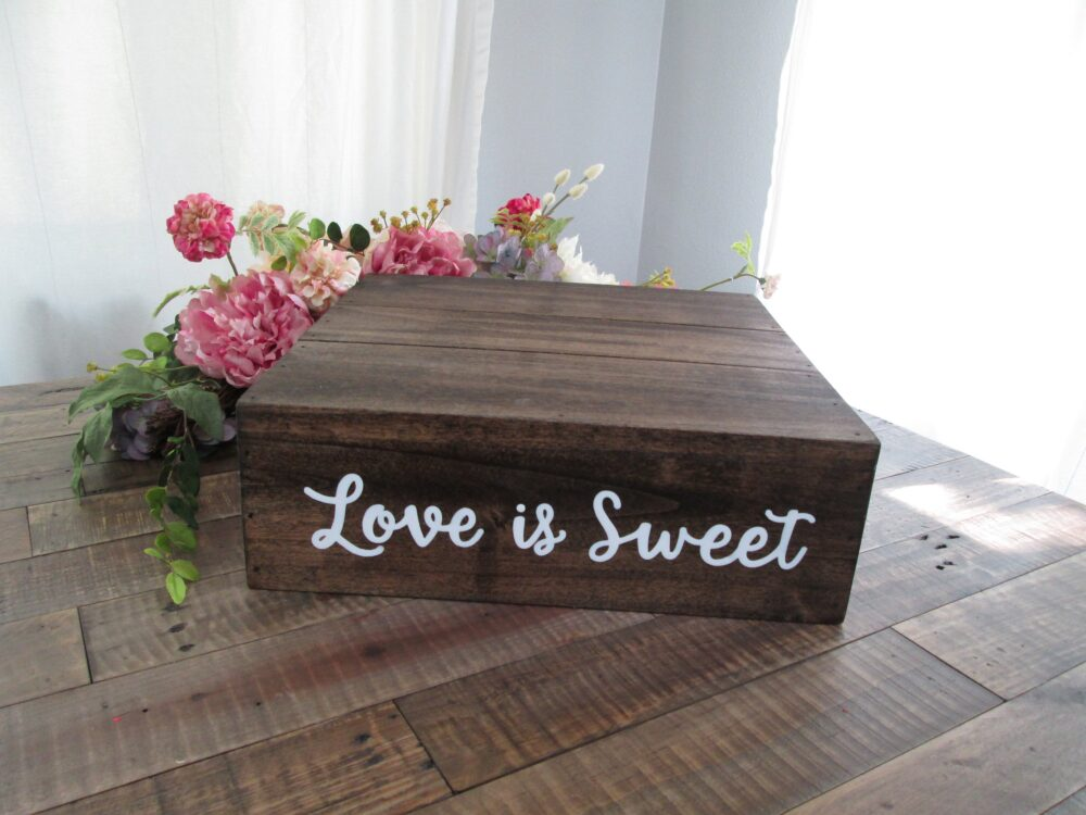 Love Is Sweet Custom Wedding Cake Stand, Bridal Shower Decor, Engagement Party Rustic Wedding, Dessert Display, Cupcake Stand