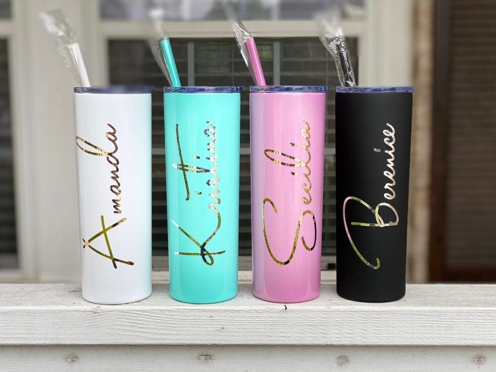Personalized Tumbler W/straw, Bridesmaid Gifts, Wedding Favors, Flower Girl Proposal, Ring Barrier, Kids Tumbler, Cups