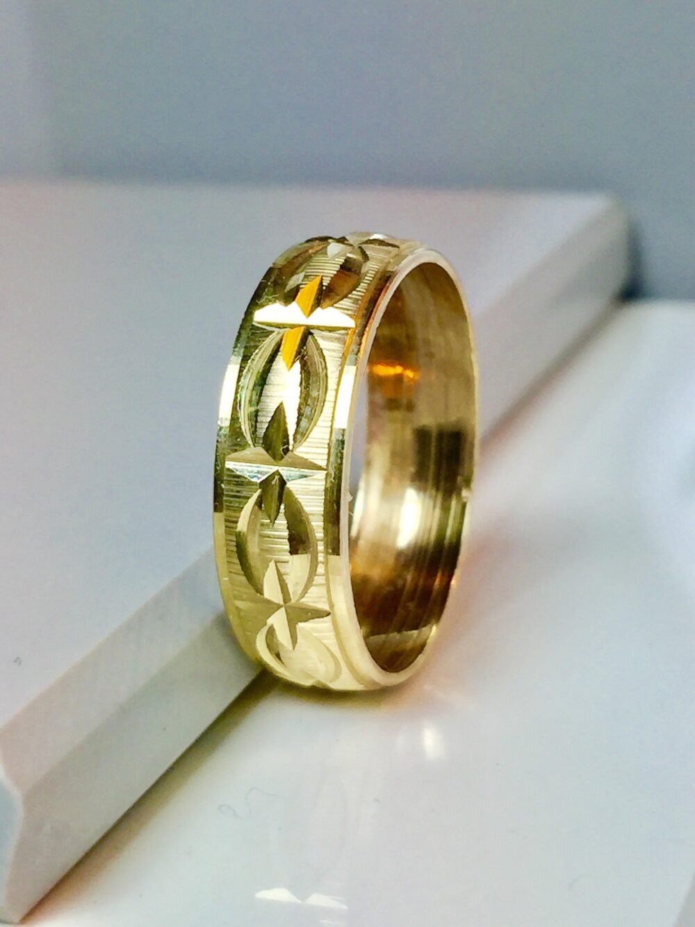Big Sale - 10K Gold Wedding Band Wedding Rings Gifts For Him Friendship Jewelry Bands Men's Bands Awsome Rings