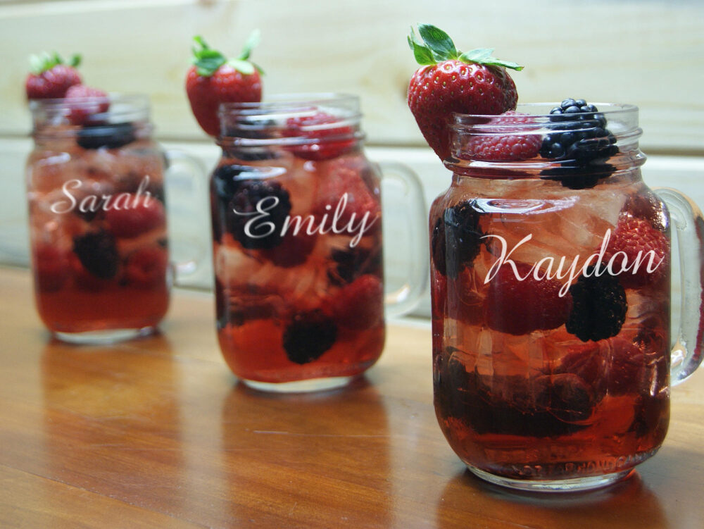 Bridesmaids Gifts, Personalized Mason Jar Mug With Handle, Engraved Jar, Wedding Party Favor, Personalized