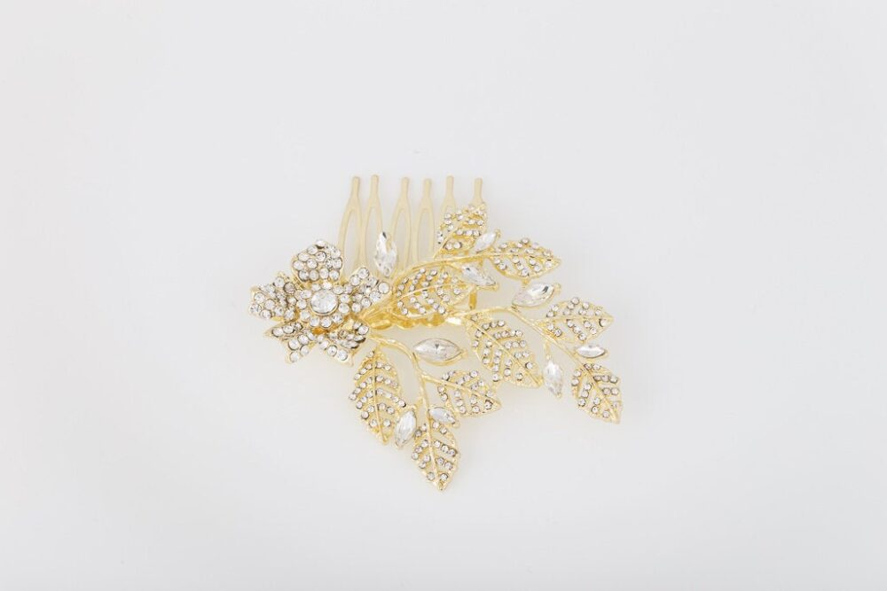 Arianna Crystal Pearl Wedding Hair Comb Veil Gatsby Vintage Hairpiece Bridal Accessory Jewelry Headpiece Silver Rose Gold