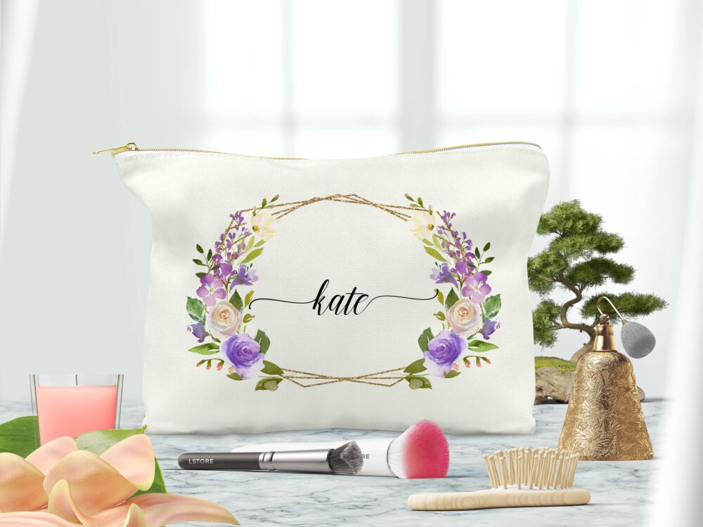 Wedding Party Cosmetic Bag-Personalized Makeup Bag-Bridesmaid Makeup Bag-Bridesmaid Makeup Pouch-Makeup Bag For Bridesmaid-Bridesmaid Gift