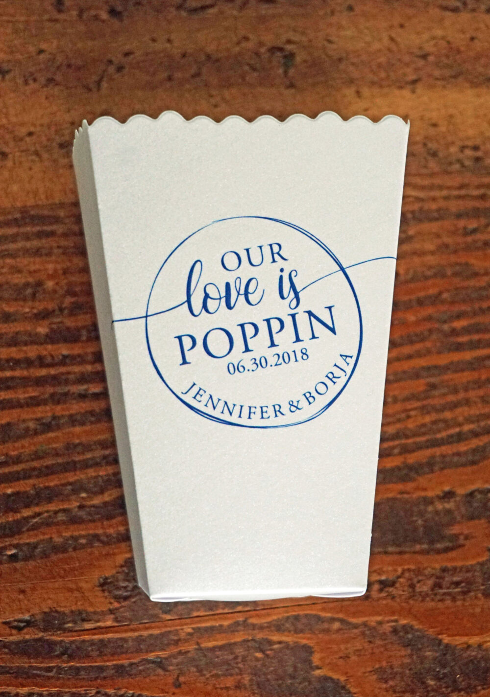 Mini Popcorn Box Wedding Favor-Our Love Is Poppin' - Custom Printed Box-Favor Bar-Micro Favor Our Popping