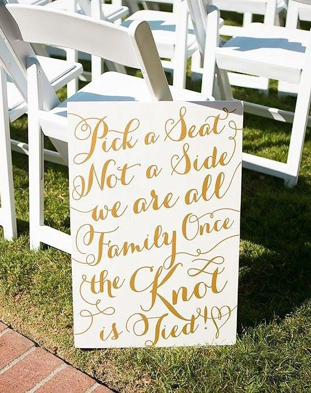 Wedding Sign Pick A Seat, Not Side Aisle For Ceremony Painted Or Home Decor Gatsby Quote | Item - Pps600