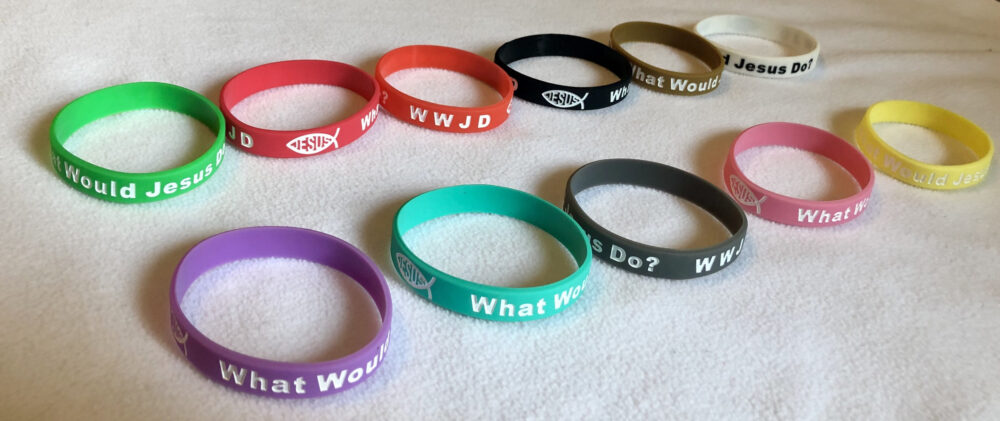 36 Wwjd What Would Jesus Do Silicon Rubber Bracelets Wristbands Bulk Lot Christian Religious Jewelry Genuine Quality Us Seller Prayer Bands