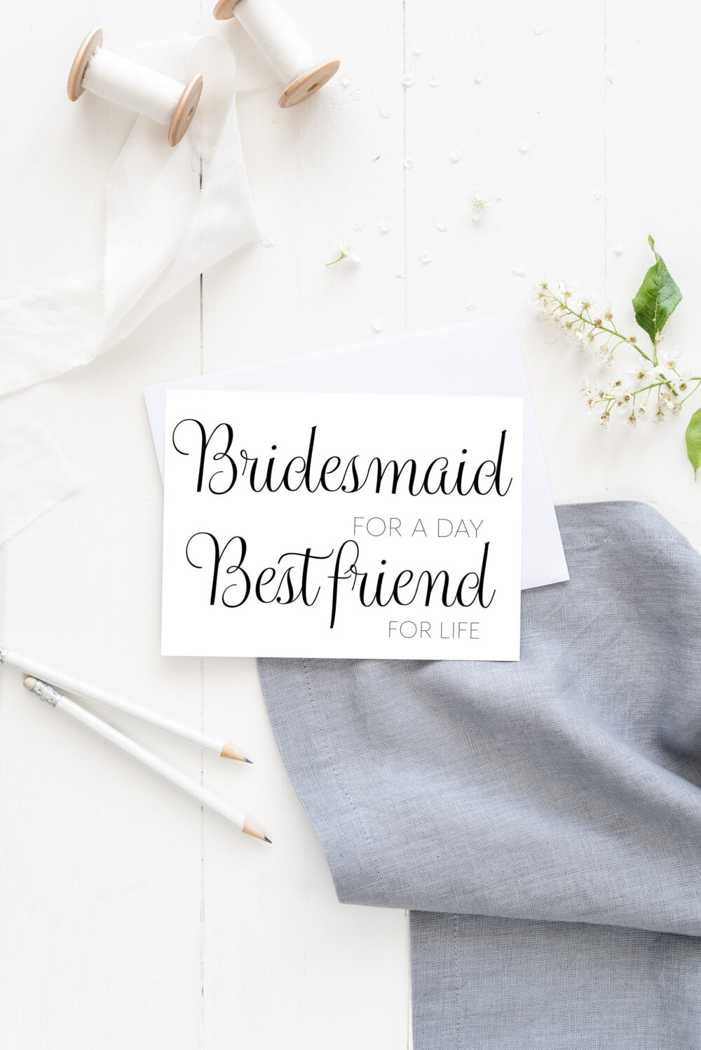 Bridesmaid Proposal Card, Funny Will You Be My Wedding Best Friend Card