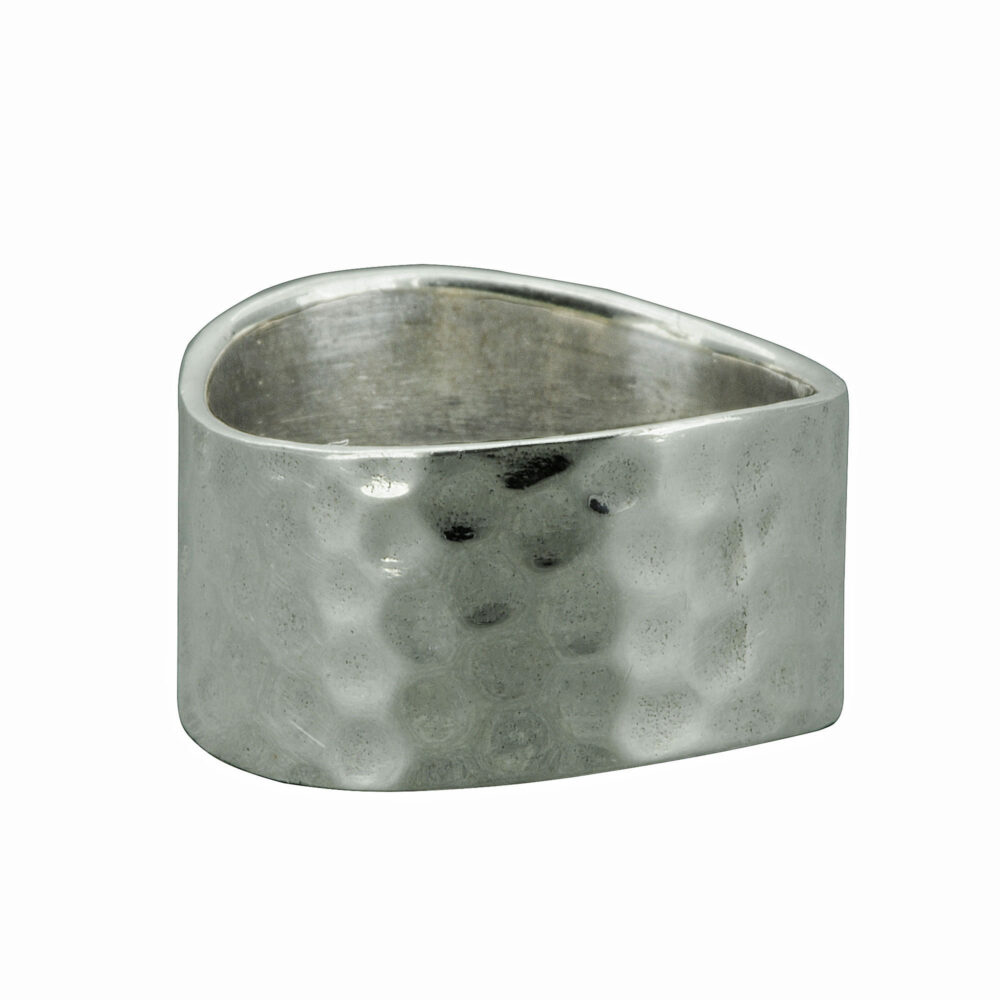 Beldiamo 7.5 G 925 Sterling Silver Wide 11 Mm Hammered Band Ring Men's Ring, Unisex Gift Jewelry