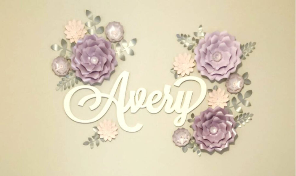 Purple & Pink Large Flowers Nursery Wall. Eleven 3D Paper Flowers. Girls Room Floral Lavender Wall Decor Inspired By Sweet Jojo Bedding