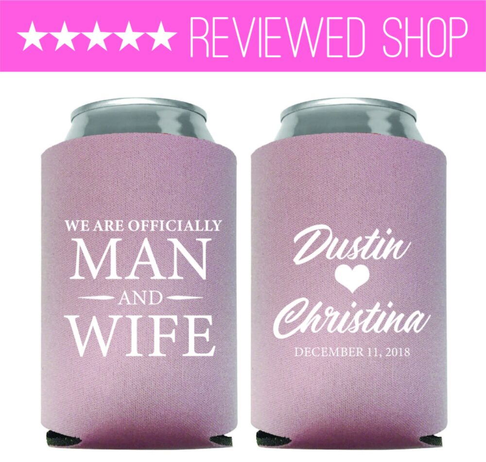Wedding Favors, Can Cooler Favor, Custom Personalized Favours | 224