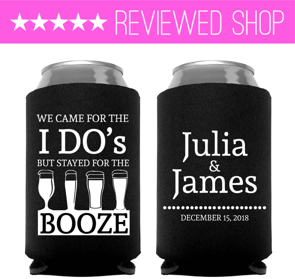 Wedding Favors, Can Cooler Favor, Custom Personalized Favours | 214