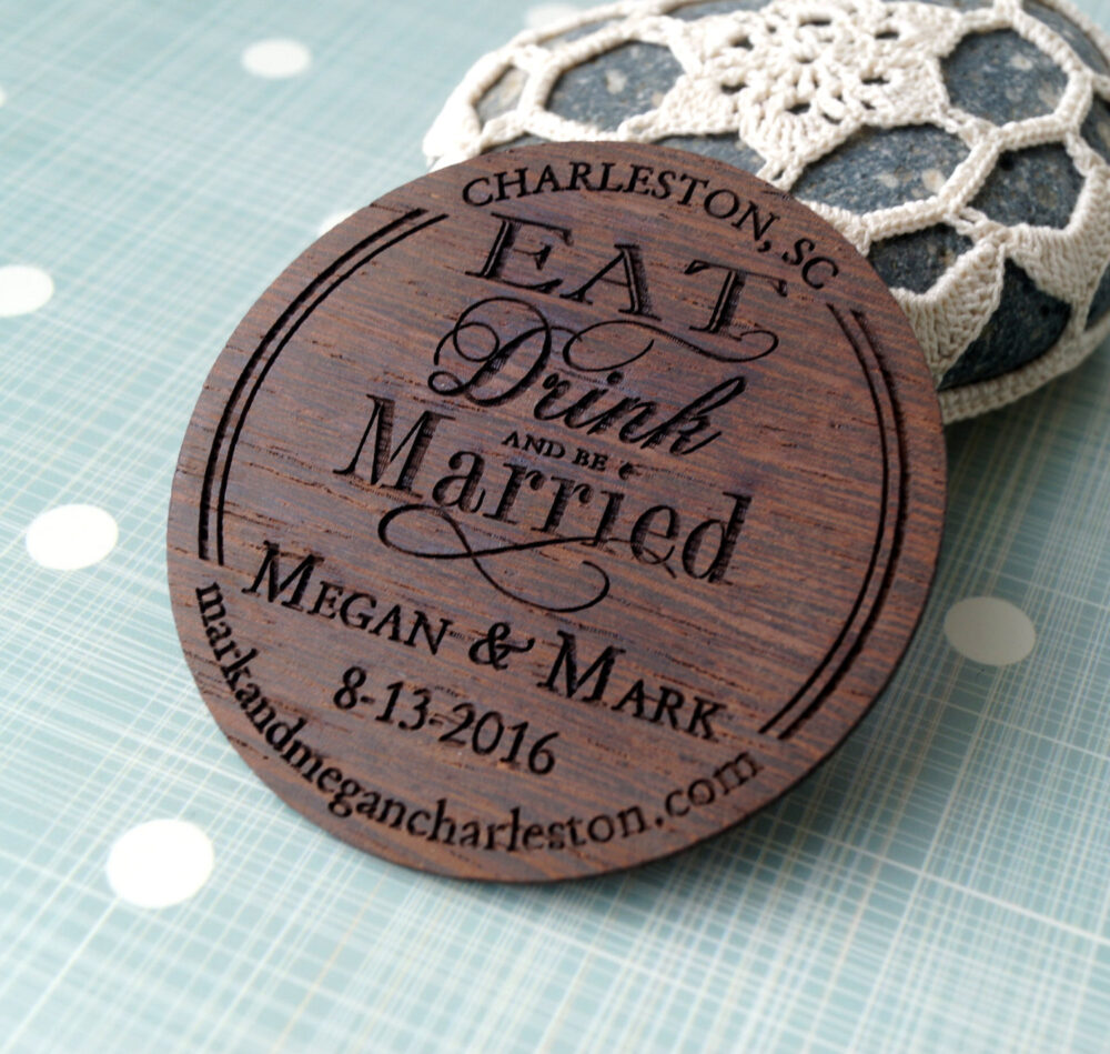 Save The Date, Wedding Save Date Magnet, Rustic Wooden Dates Magnets, Luxury Wood Personalized