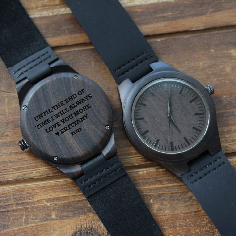 Groom Gift From Bride, Bride On Wedding Day, Future Husband Gift, To Groom, Wood Watch