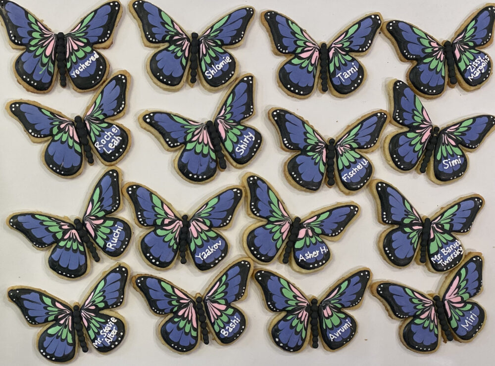 Butterfly Place Card Cookies/Butterfly Custom Colors Are Customizable Kosher Name