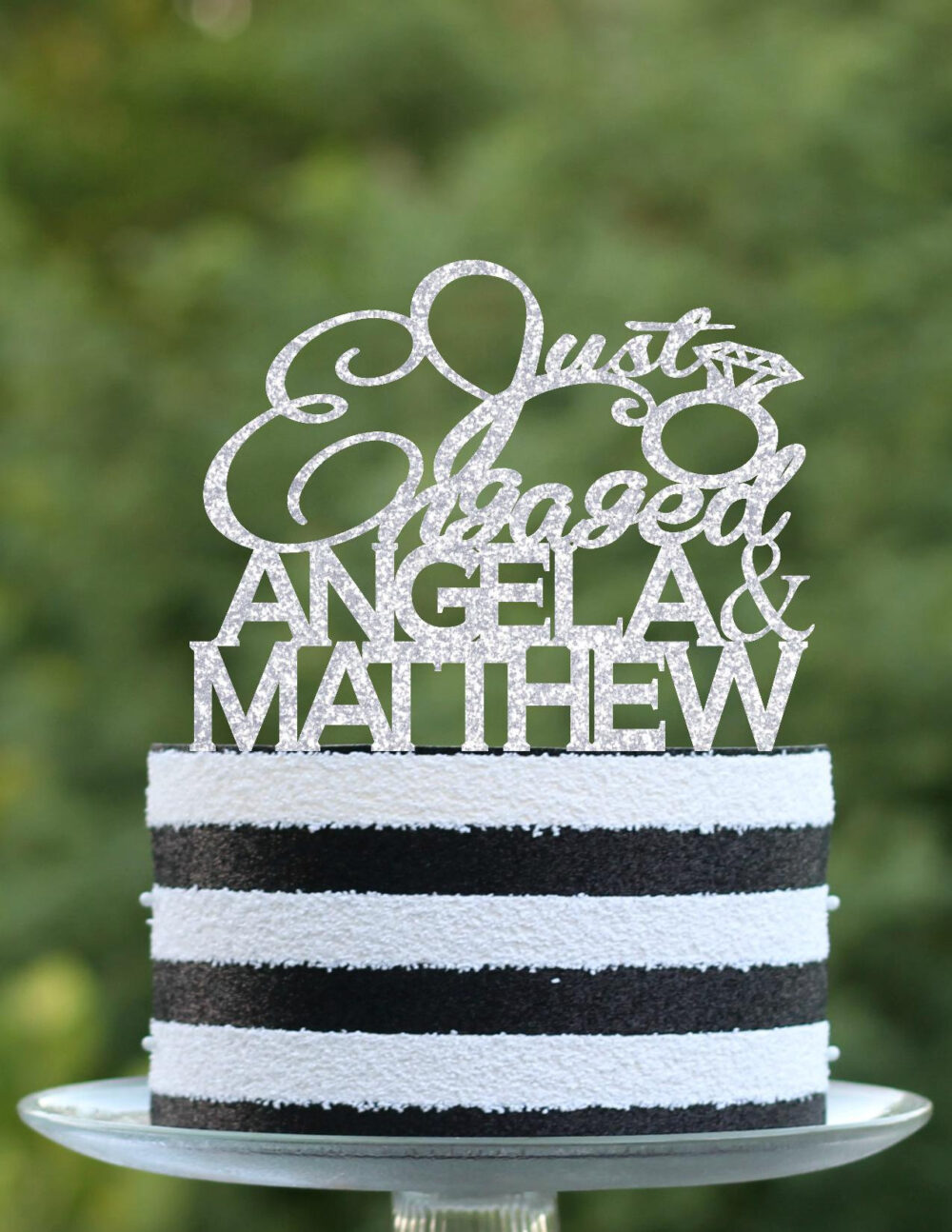 Engagement Cake Topper - Just Engaged Cake Topper Party Engagement Party Decorations Ideas We're