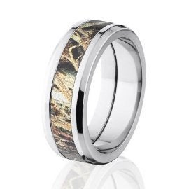 Duck Blind Mossy Oak Camo Rings, Camouflage Wedding Bands 8T-Duck