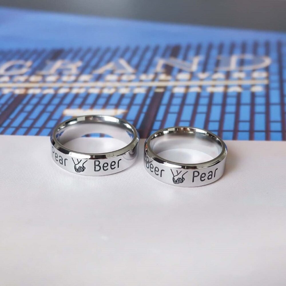 Personalized Stainless Steel Ring, Custom Message Ring For Him, Dad Ring, Engraved