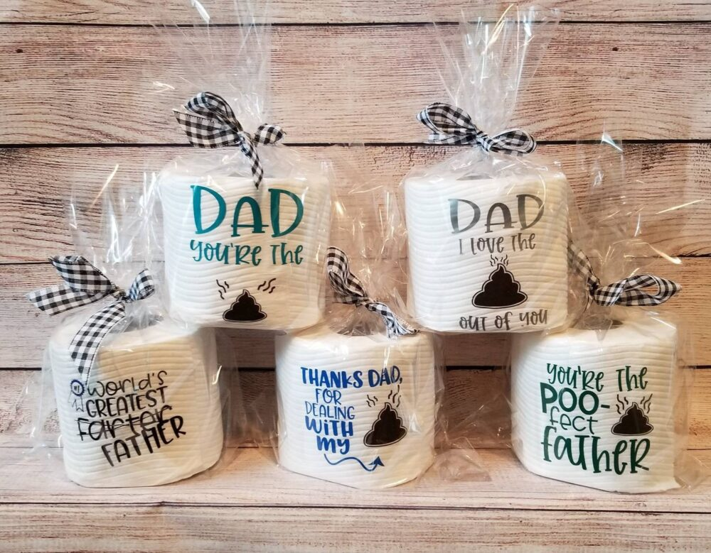 Gifts For Dad, Step Dad Gift, Funny Father's Gifts Gag Grandpa Gift, Papa Toilet Paper, Dad Jokes