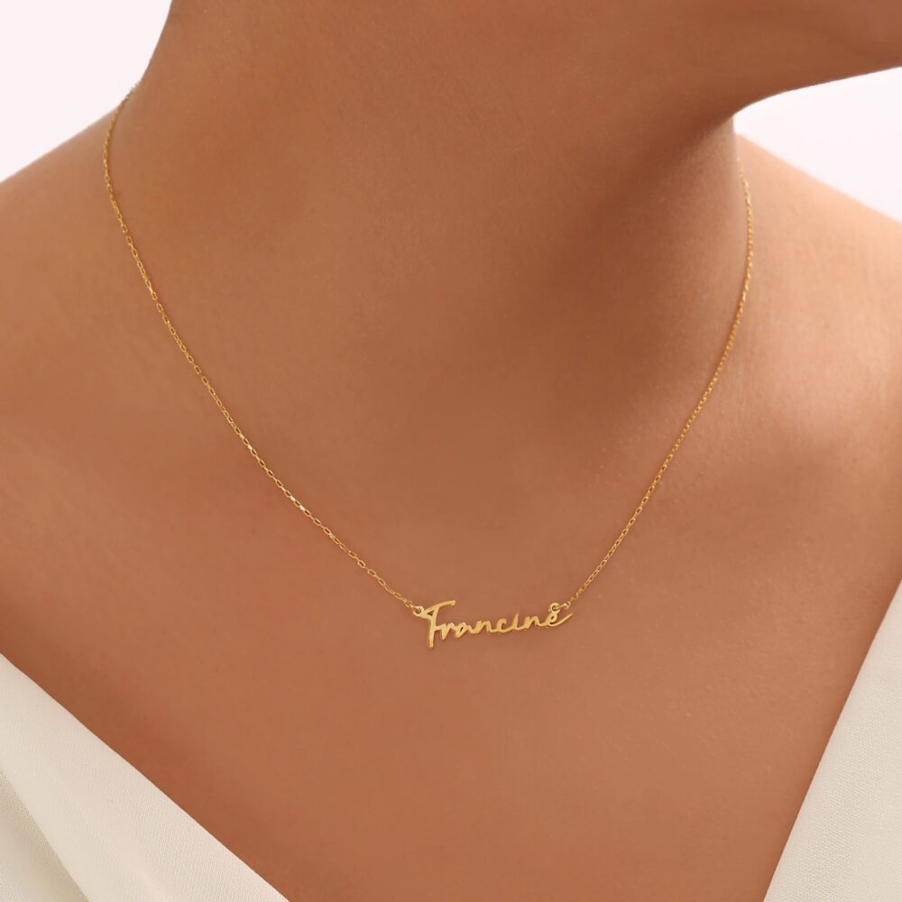 Personalized Handwriting Name Necklace-Signature Necklace-Name Necklace Script-Cursive Jewelry-Gift For Moms-Script Jewelry