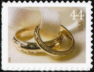 5x Wedding Rings 2009 44C Unused Vintage Postage Stamp Free Shipping Wedding Invitations.your #1 Source For Stamps With Best Prices