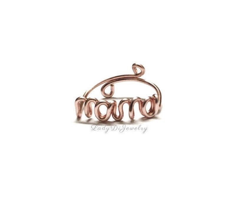 Mama Ring -New Mom Mother Gift -14K Gold /Rose Gold-Filled /sterling Silver -Couples Girlfriend Romantic -Push Present -Name -Adjustable