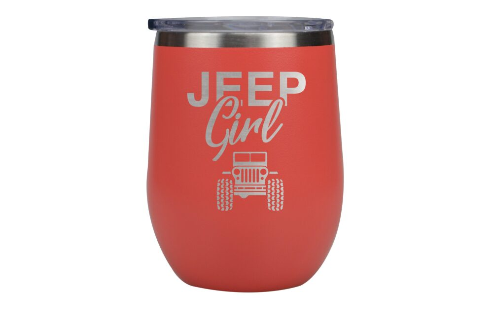 Jeep Girl Insulated Wine Cup, Mother's Day Gift, Gift For A Girl, Fan
