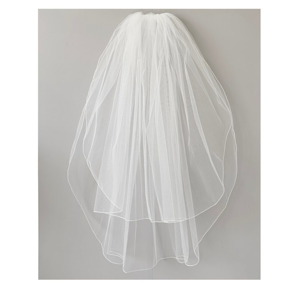 Simple Wedding 2 Tiered Veil | Bridal Tulle Layer