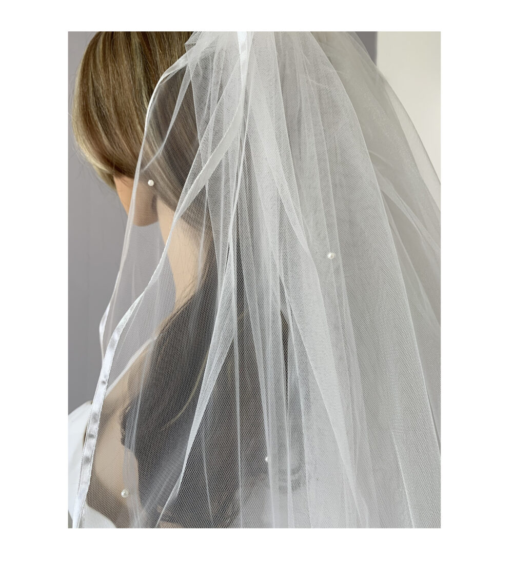Pearl Wedding 2 Tiered Veil | Bridal Tulle Layer