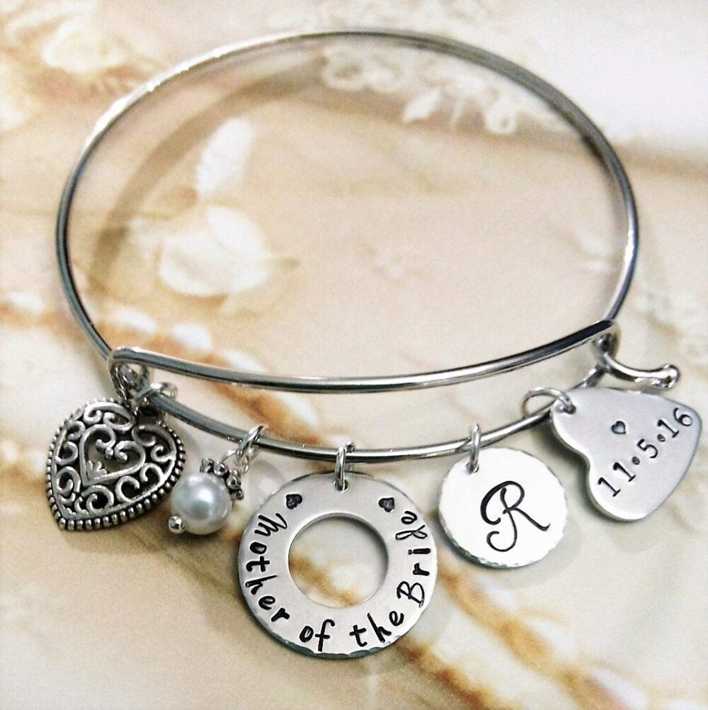 Mother Of The Bride Bangle, Gift For Mother, Wedding Jewelry, Party Gift, Thank You Her
