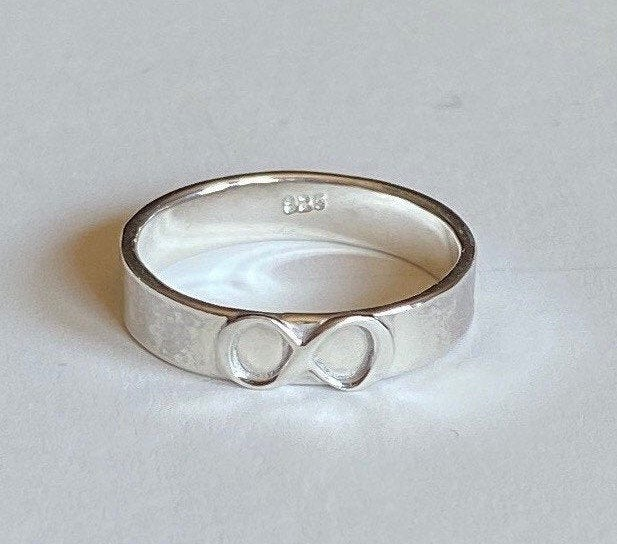sterling Silver Infinity Ring/Infinity Band Ring/Minimalist Ring/stackable Ring