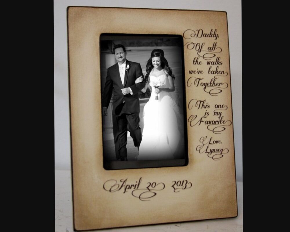 Personalized Wedding Gift For Father Of The Bride Walk Down Aisle 4x6 Photo Father Bride Gift, Bridal Wedding Frame