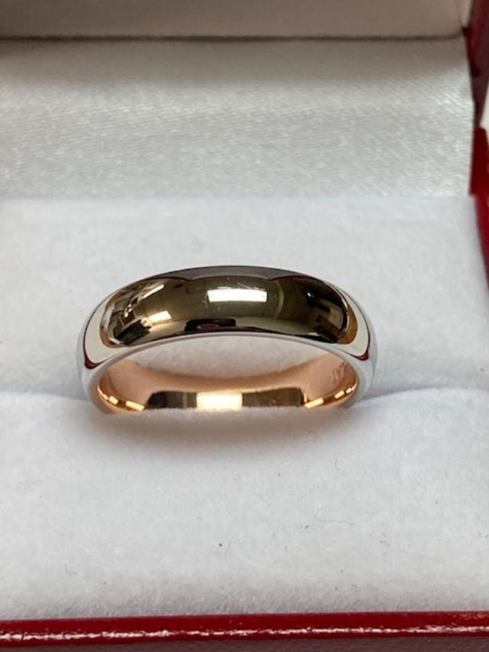 Platinum Wedding Band, Ring, 5mm Dome Shiny Finish Mens Bands, Rings, Rings For Men