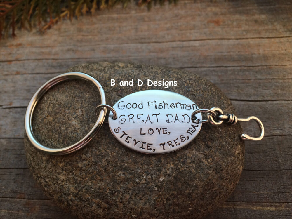 Personalized Fishing Lure Keychain- Father's Day- Father Of The Bride - Dad- Husband -Perfect For That Special Dad in Your Life