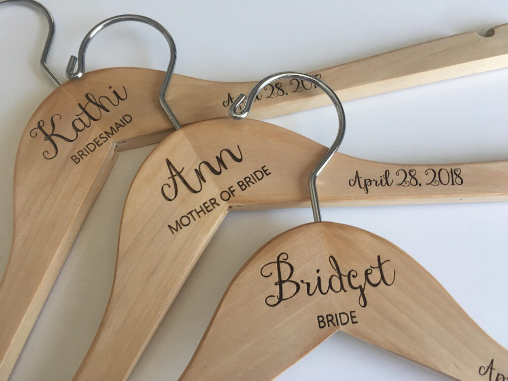 Bridesmaid Hangers   Wedding Dress Hanger Bride Personalized Bridal Engraved For You
