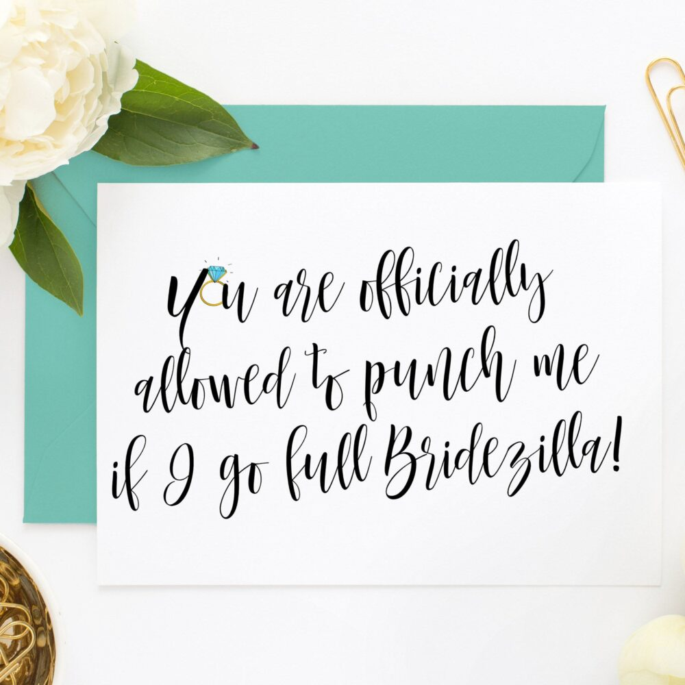 Funny Bridesmaid Cards, Asking Ask Will You Be My Bridesmaid, Maid Of Honor