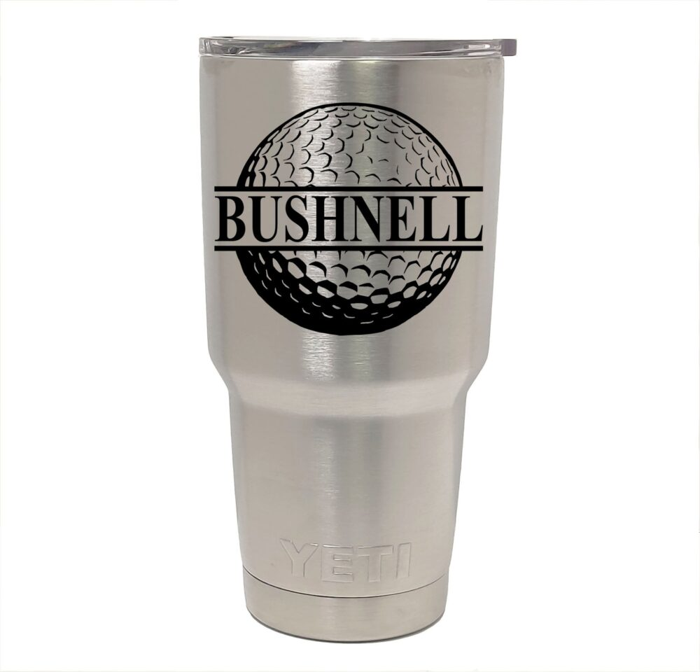 Yeti Stainless Steel Tumbler Laser Engraved 20 Or 30 Oz. - Personalized Golf, Golfing