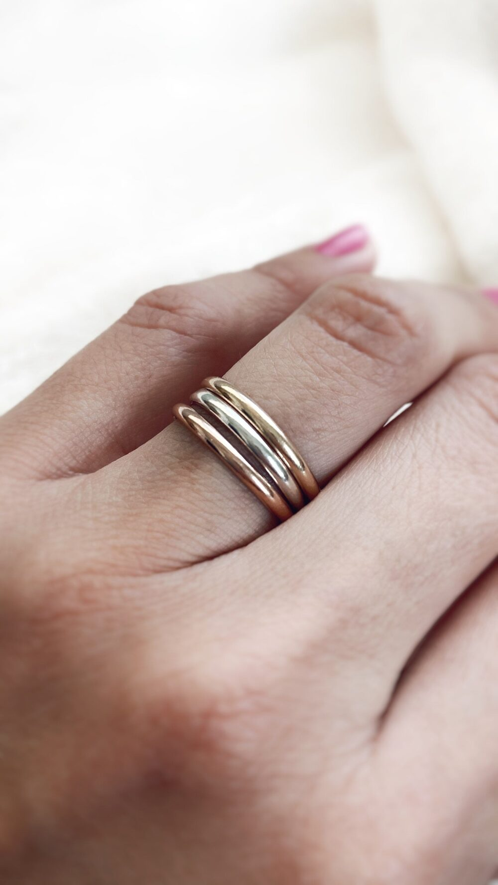 Classic Wedding Band, Thick Gold Band Ring, 14K Solid Rose 1 Per Listing