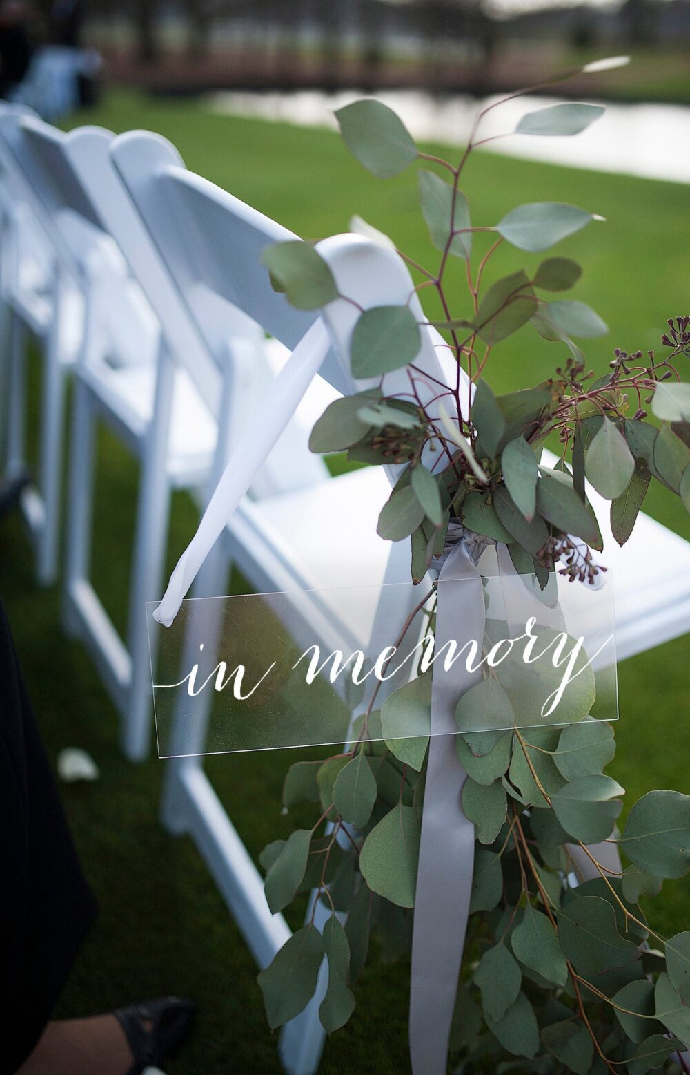 In Memory Sign, Acrylic Wedding Wedding Reserved Sign Chair Sign Hanging Sign-Nc