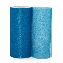 Turquoise Sparkling Tulle Roll - 6 X 25yd - Fabric - Width: 6 by Paper Mart