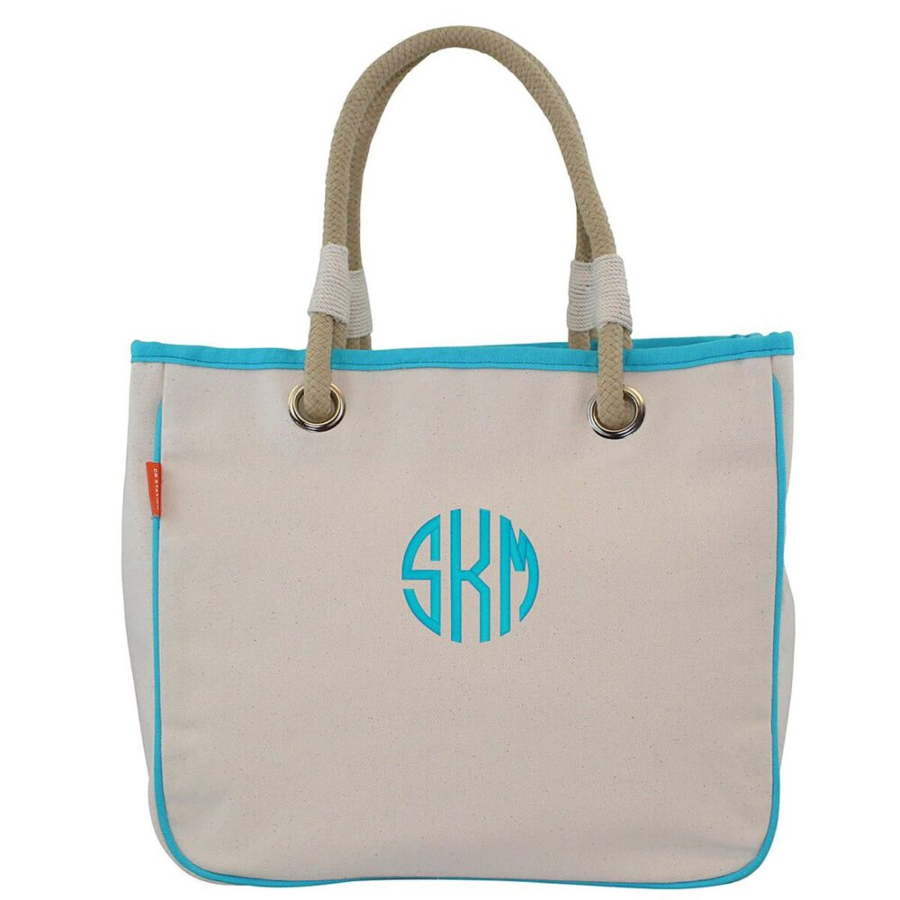 Set Of 9 Personalized Bridesmaid Gift Tote Bags, Monogramed Canvastote, Bridal Party