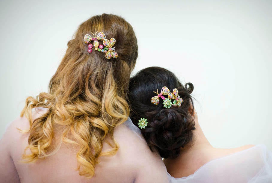 Bridal Comb ~ Butterfly Vintage Handcrafted Wedding Hair Piece Headpiece Pastel Heaven