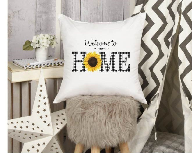 Farmhouse Pillow Cover, Welcome To Our Home, Established Rustic Farmhouse Pillow, Gift For Her, Spring Pillows Mothers Day
