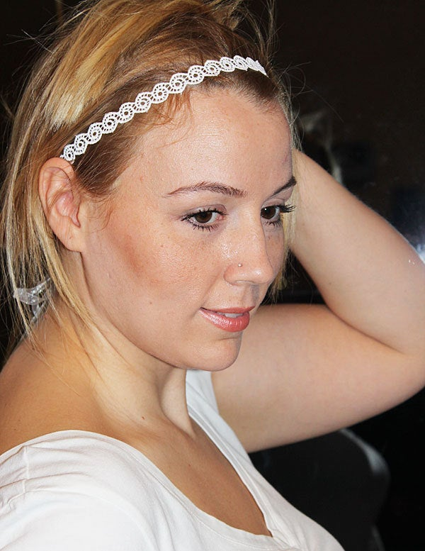 Wedding Lace Bridal Headband, Bridesmaid Headpiece, For Bride Hairpiece, Halo Forehead Band, Hair Band Accessories