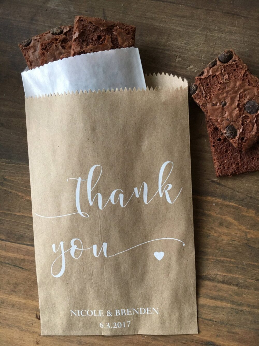 Wedding Favor Bags - Cookie Or Candy Buffet Bags Dessert Bar Favor -Unique Thank You Gift Set Of 25