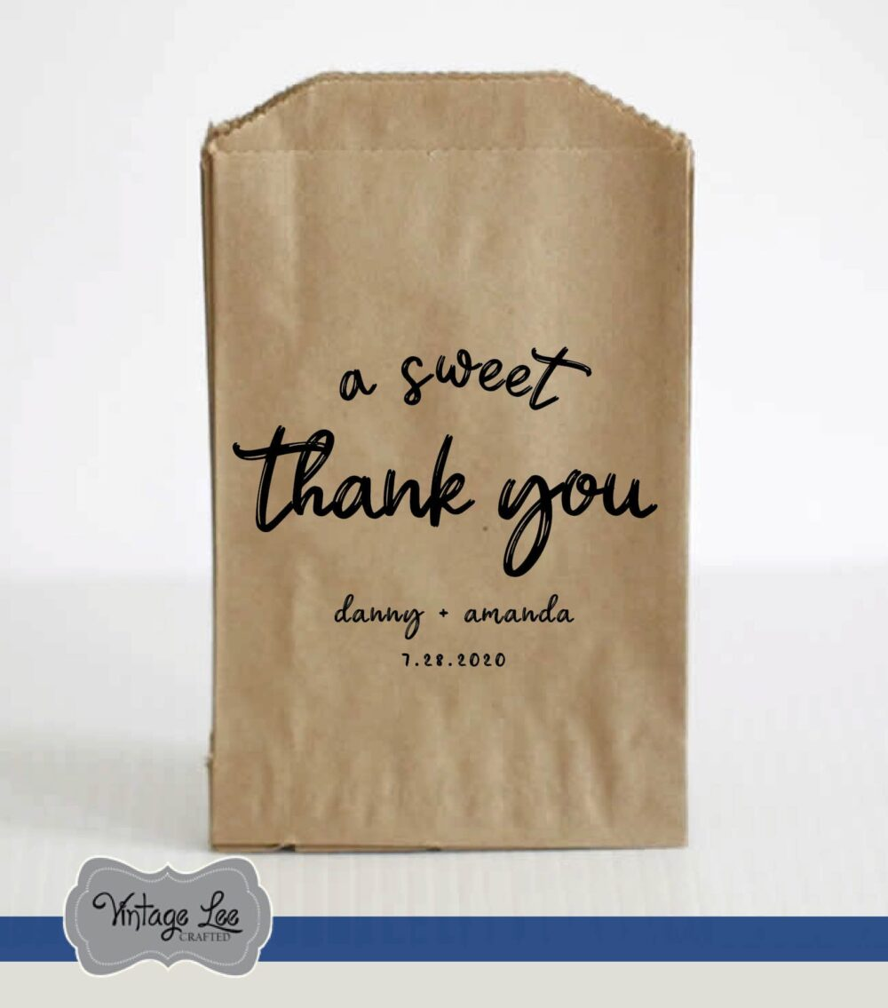 Wedding Favor Bags, Welcome Favors, Candy Donut Trail Mix Popcorn Bag