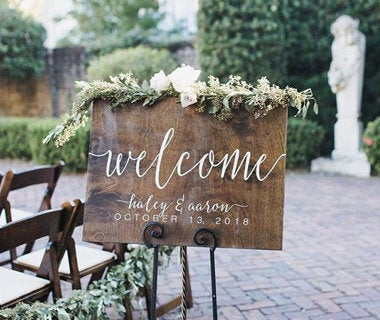 Wedding Welcome Sign, Rustic Decorations, Wooden Signs